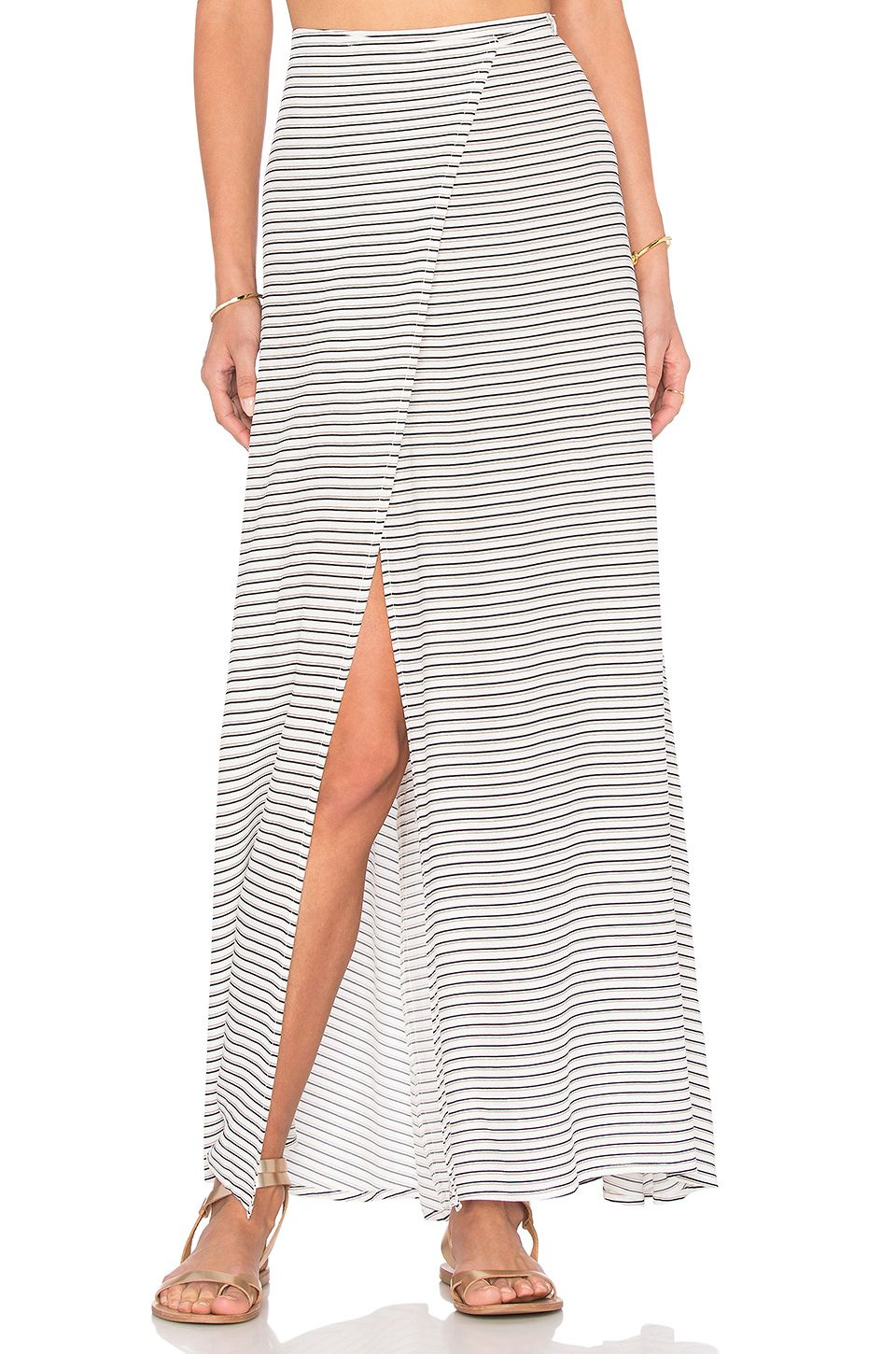 FAITHFULL THE BRAND Freja Maxi Skirt in Sea Salt Print