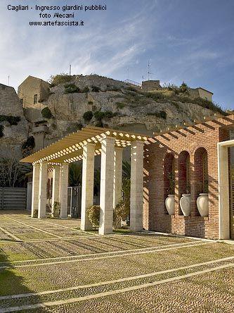 Cagliari Ingresso giardini pubblici Arch. Ubaldo Badas