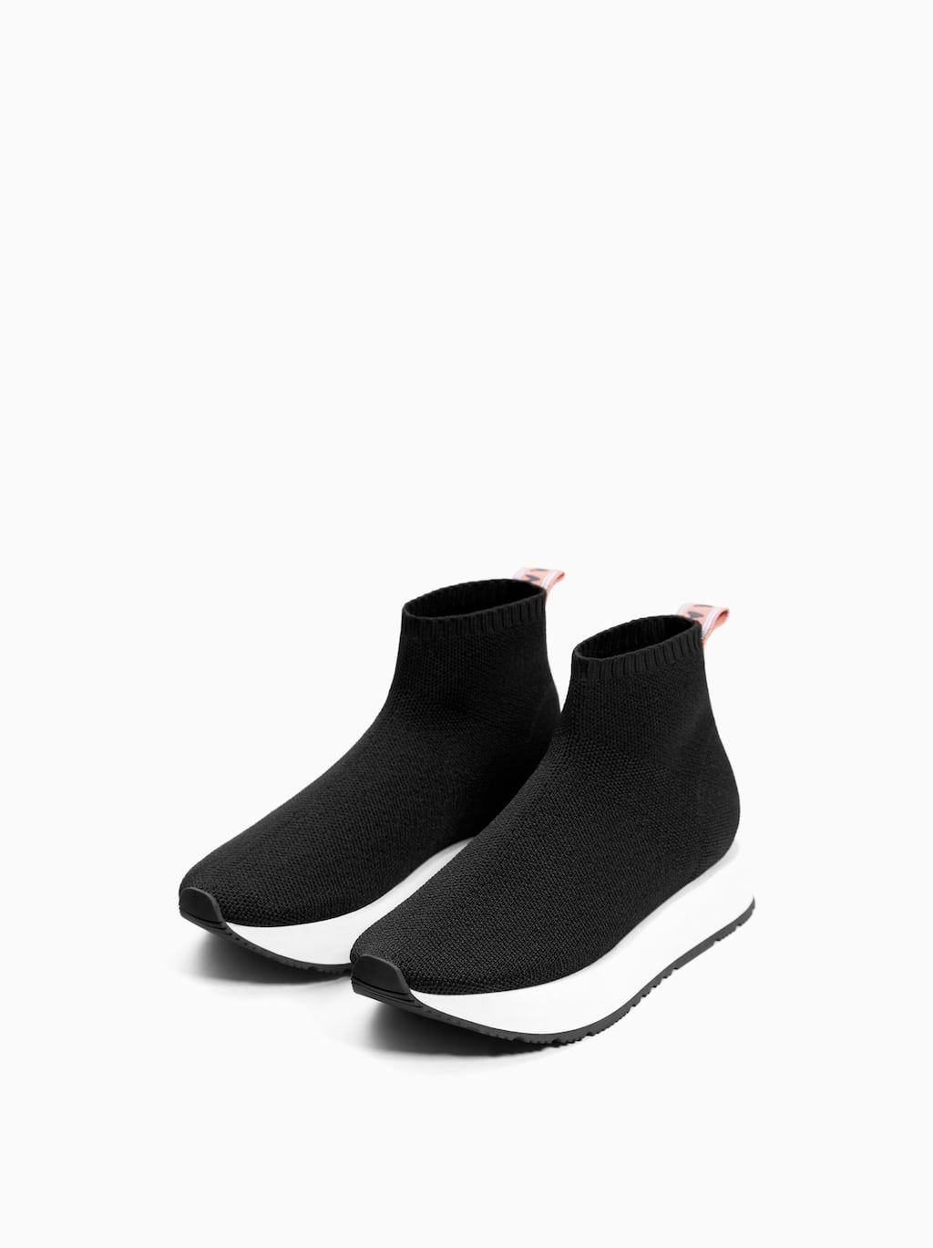 SOCK-STYLE HIGH TOP SNEAKERS from Zara