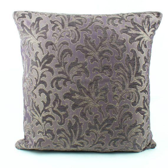 Purple Chenille Euro sham 26x26 Pillow cover kilim Textured