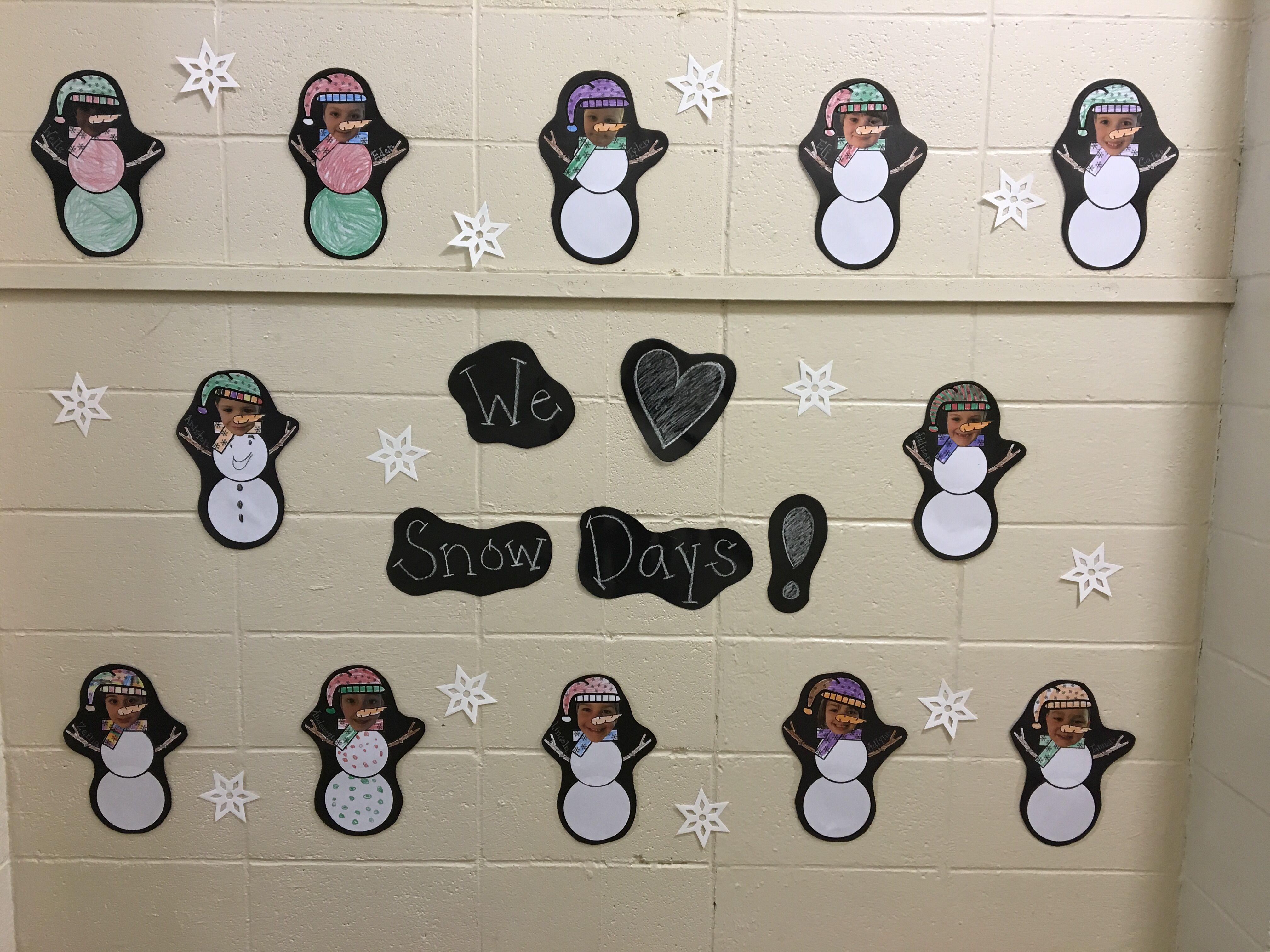 Snowman Craft Kindergarten