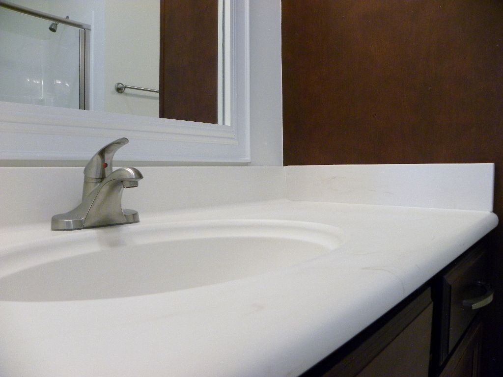 The 1 4 Thick Cultured Marble Tops With Matte Finish Have