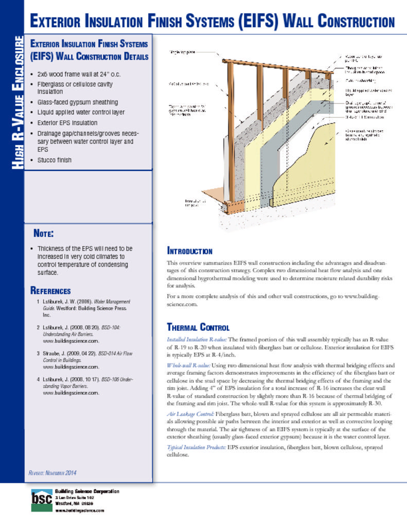 Etw Wall Exterior Insulation Finish Systems Eifs Wall Construction Details Pinterest