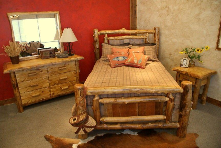 Yukon Log Aspen Reclaimed Wood Bed Jhe S Furniture Place