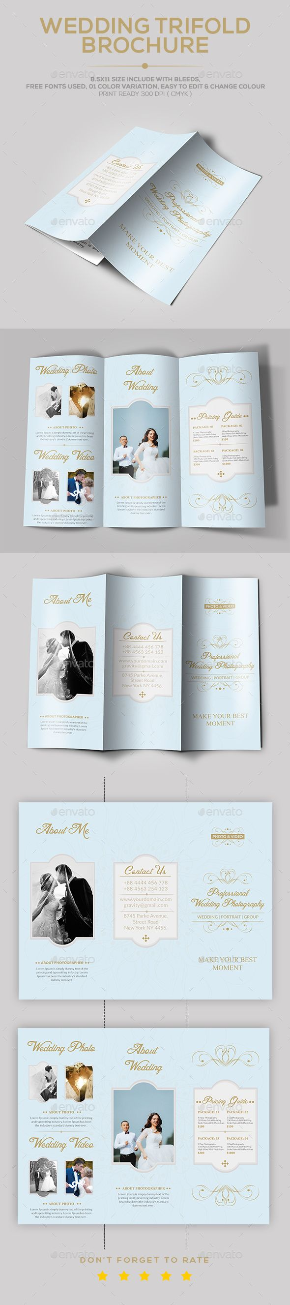 Wedding Brochure template | Pinterest | Brochure template, Brochures ...
