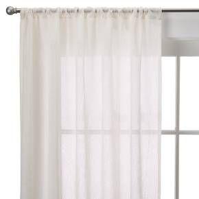 Room Essentials Crinkle Sheer Curtain Panel Ivory 40x84