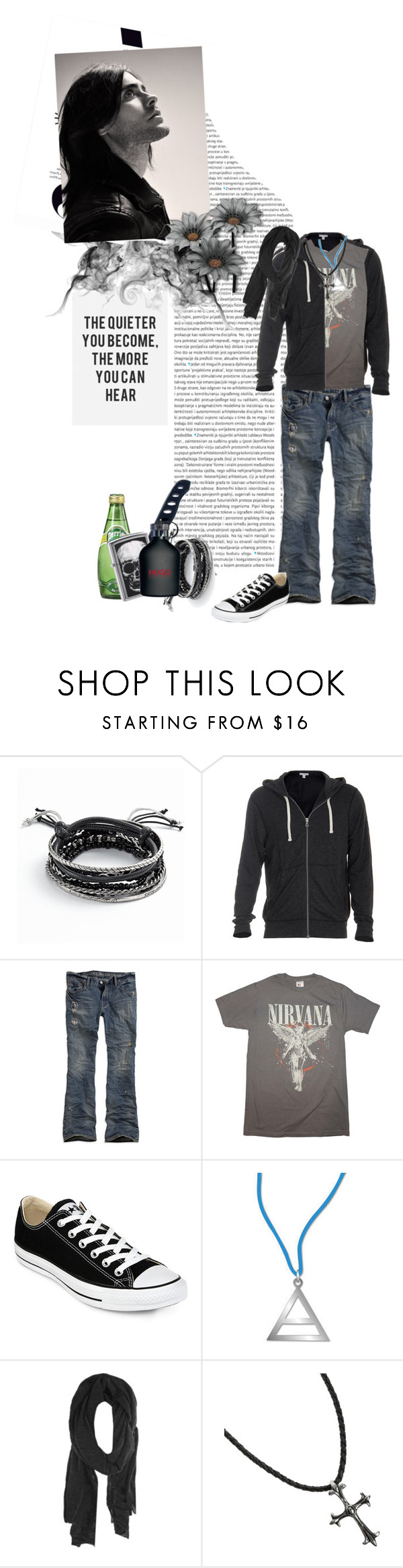 """""""throw your DIAMONDS in the sky, we'll stay GOLD forever?"""" by mars-phoenix ❤ liked on Polyvore featuring Pink Lotus, KAROLINA, Gerber, Mudd, HUGO, James Perse, American Eagle Outfitters, Converse, Woolrich and G by Guess"""