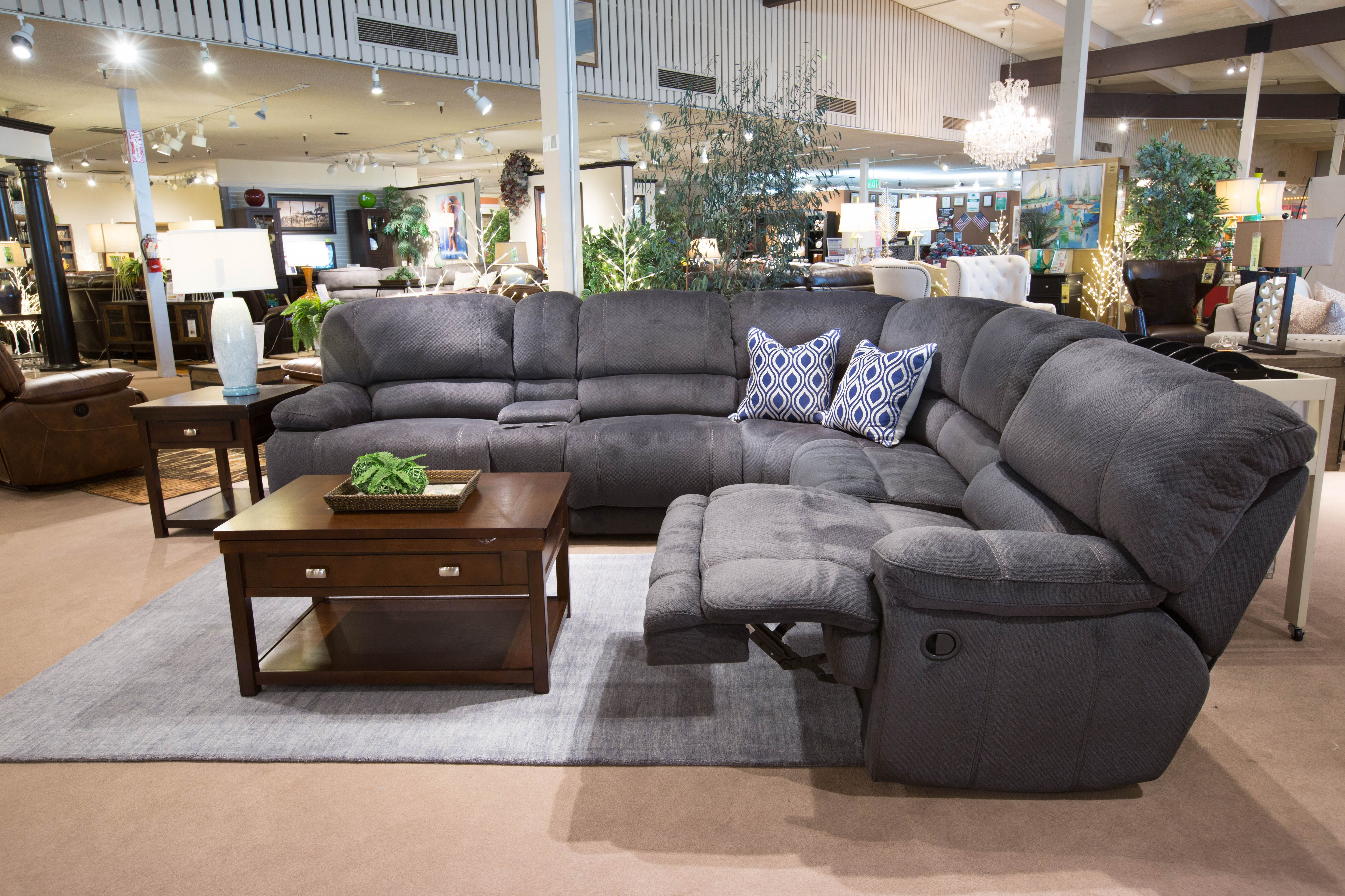 Kosovo Collection Plush Charcoal Chenille Fabric High Performance Upholstery The Kosovo Collection Features A In 2019 Sectional Sofa With Recliner Living Room Furniture Comfortable Couch