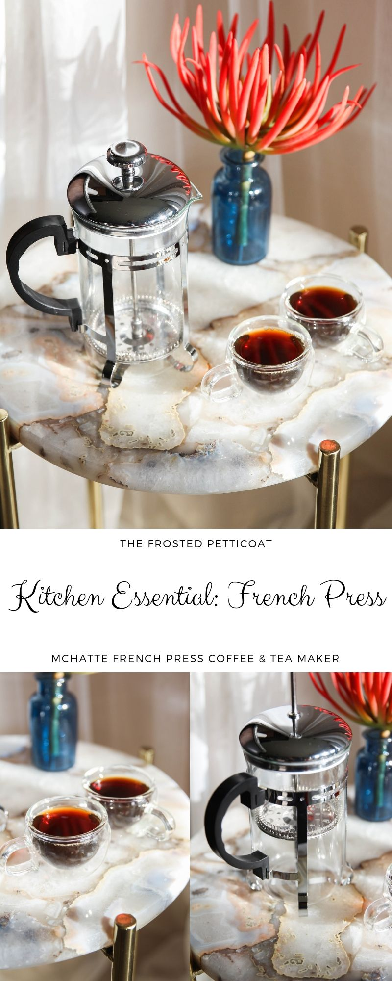 Amazon Kitchen Essentials: In Love With My New MCHATTE French Press Coffee & Tea