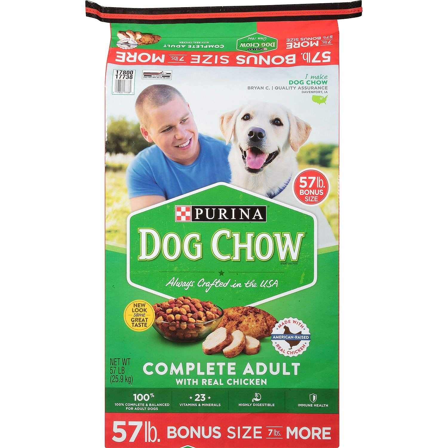 Purina Dog Chow Complete Adult Chicken Dry Dog Food Real Chicken