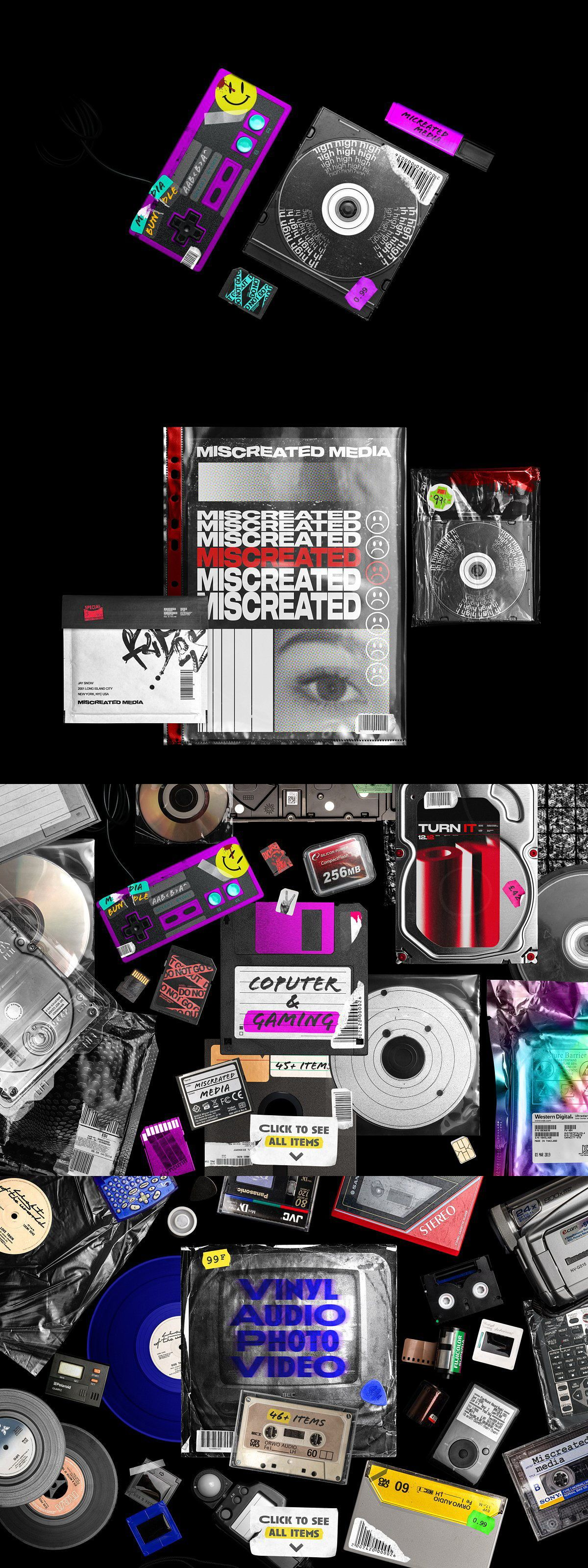 Miscreated Media Mockup Creator Branding Design Cool Posters Foil Stamping