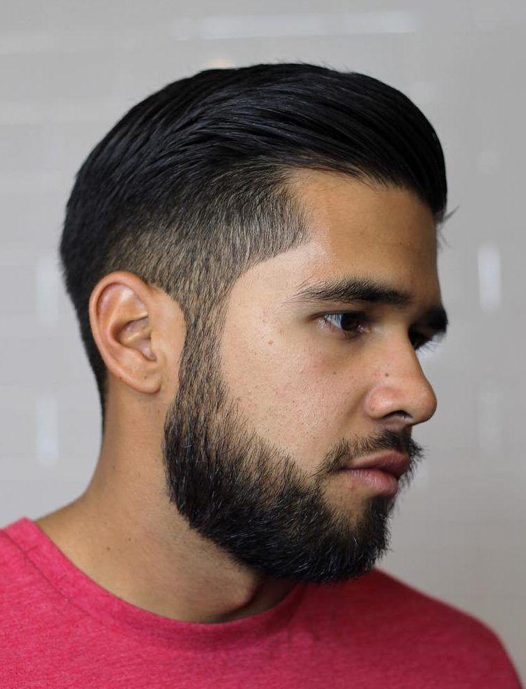 Slicked Back Degrade Aux Ciseaux Coupe De Cheveux Homme Coiffure Homme Cheveux Homme Coupe Cheveux Homme