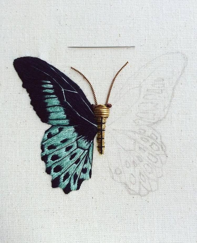 Wings Butterfly Hand Embroidery Pattern PDF Bug Pretty