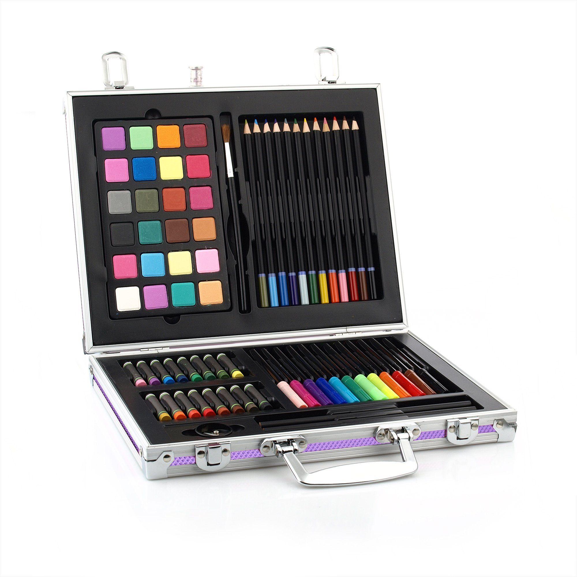 Gallery Studio 69 Piece Deluxe Art Supplies Set in Purple