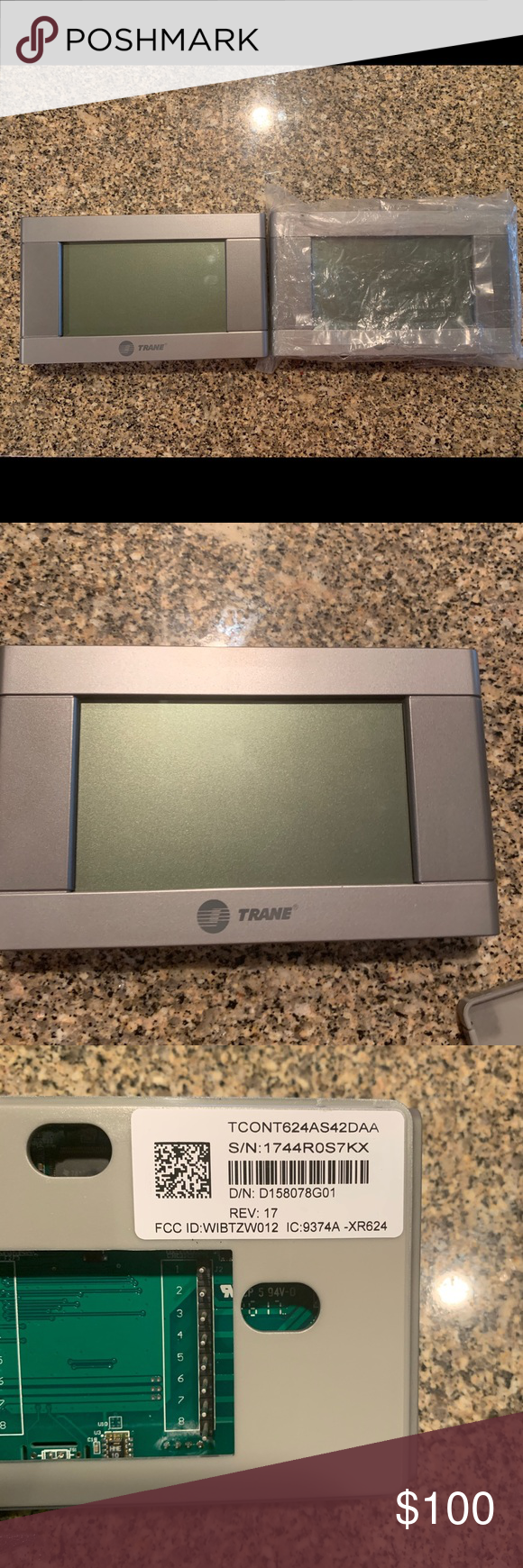 Two Brand New Trane Thermostats Two New Trane Thermostats For 100 A Piece They Are Originally 199 A Piece At Home Depot Trane Trane Thermostat Touch Screen
