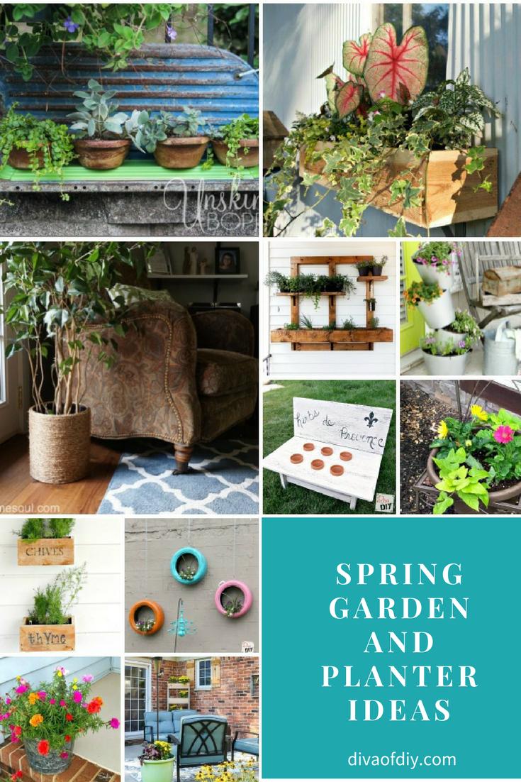Spring Garden and Planter Ideas via @divaofdiy