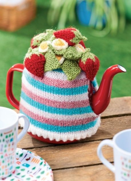 Striped Teacosy - Free Knitting Patterns - Homewares Patterns ...