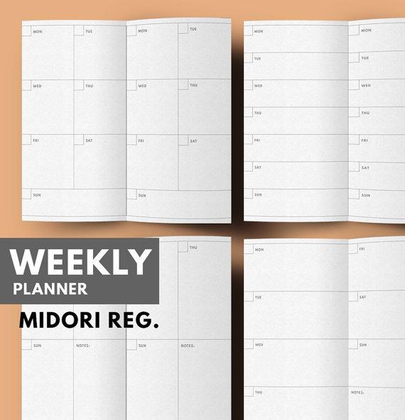 graphic regarding Midori Insert Printable identified as 7 days upon 2 Web pages Printable WO2P Midori tourists