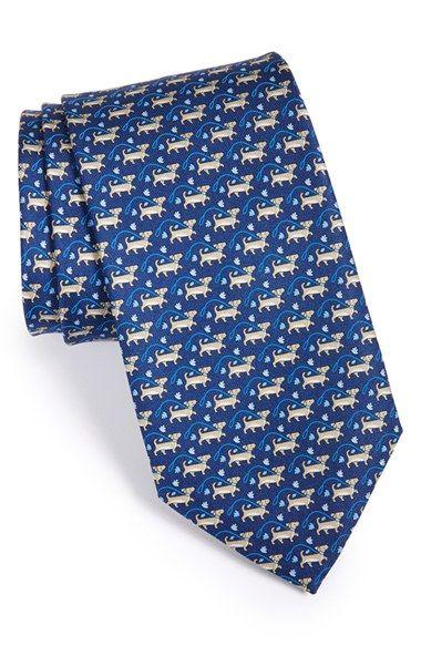 Mens Snail-Print Silk Twill Necktie Salvatore Ferragamo kAvPeUFM