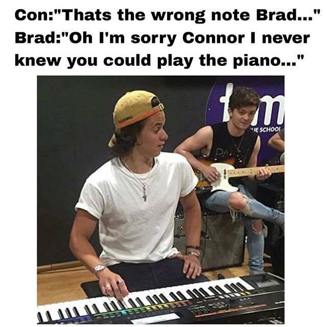 Oh I M Sorry Condor I Never Knew You Played Piano I Love The Vamps So Much Brad The Vamps The Vamps Brad Simpson