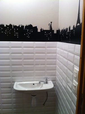 d co wc carrelage metro d co pinterest deco wc carrelage et salle de bains. Black Bedroom Furniture Sets. Home Design Ideas