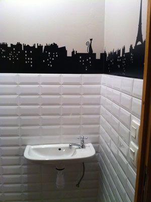 deco wc carrelage metro deco wc