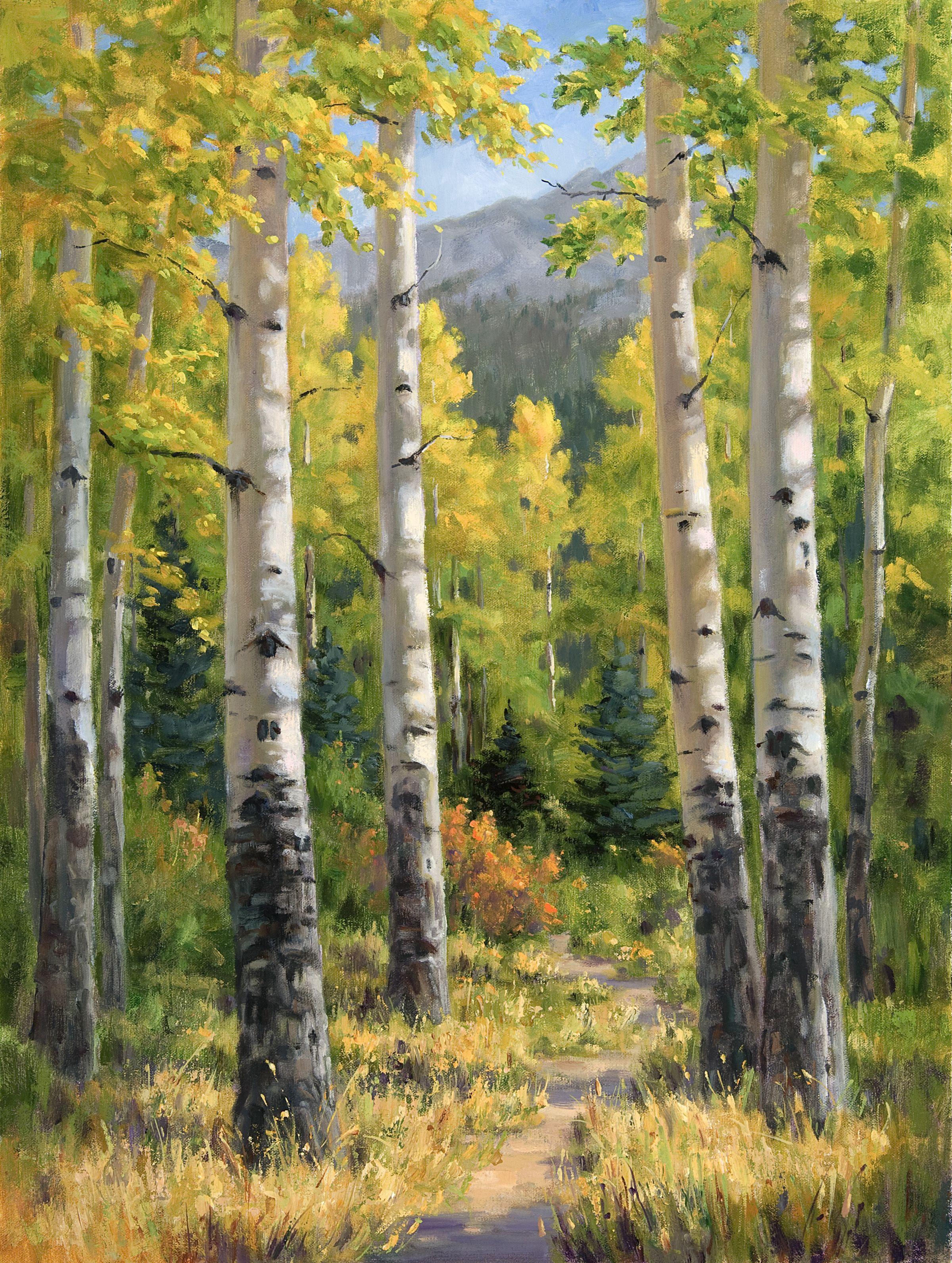 Smith_AutumnPath_16x12_oil_1450.jpg   ART   Pinterest   Aspen ...