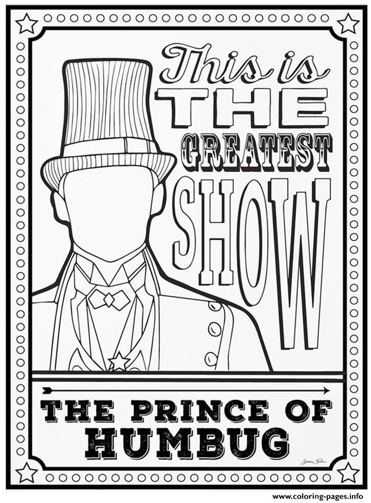 Print The Greatest Showman The Prince Of Humbug Coloring Pages Quote Coloring Pages Coloring Pages Greatful