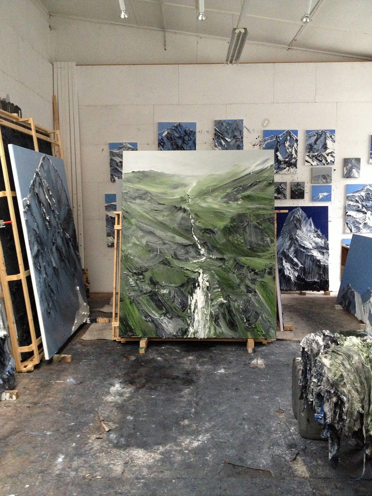 A Studio Visit With Conrad Jon Godly and His Majestic Mountain ...