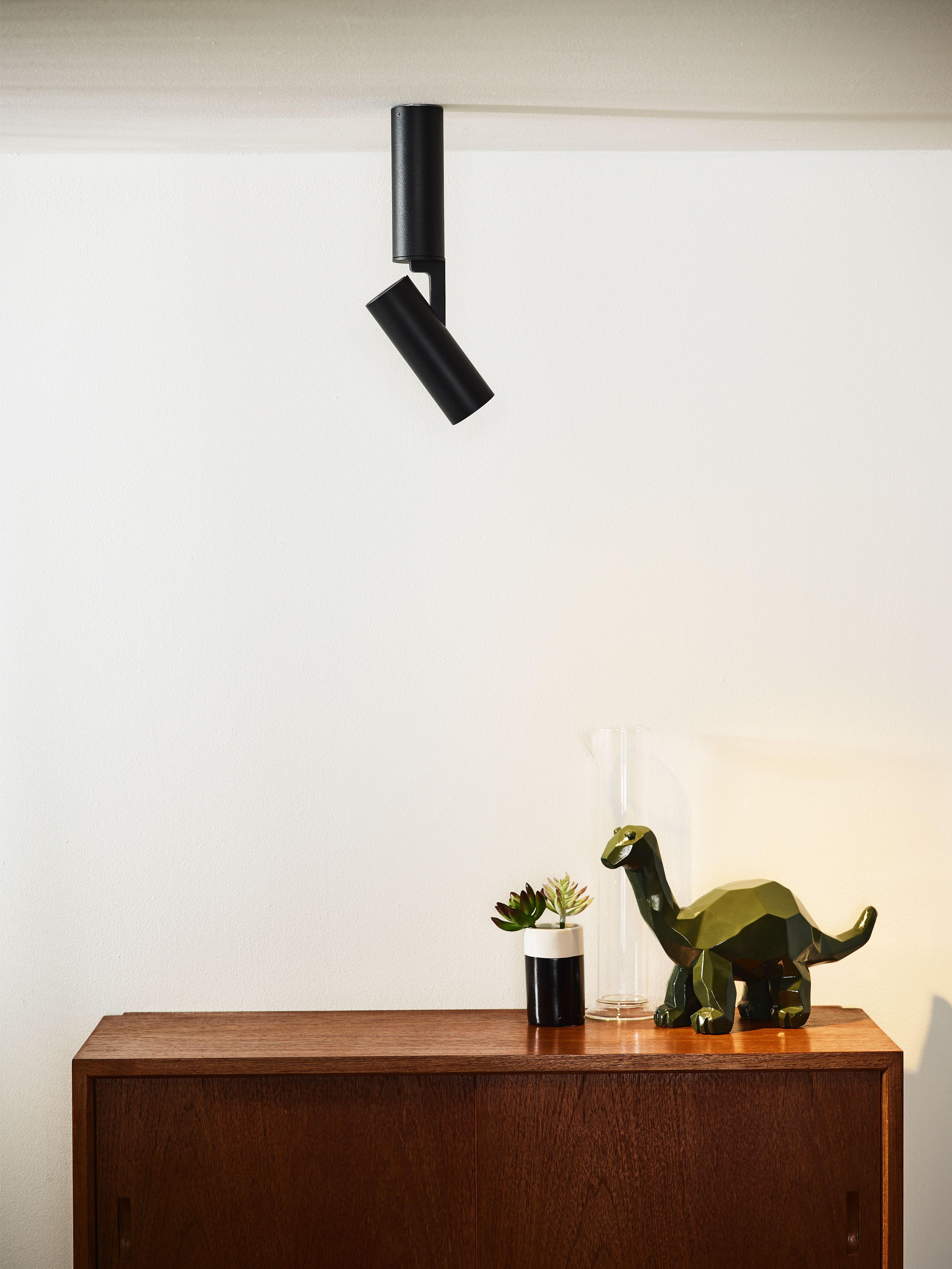 Lucide Greg Ceiling Spotlight O 5 Cm Led 1x13w 3000k Black Plafondlamp Led Binnenverlichting