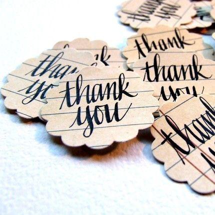 """KisforCalligraphy """"Thank You Envelope Seals"""""""