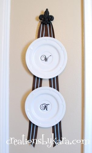 Tutorial on how to hang plates WITHOUT plate holders!! I hate the plate holders & Tutorial on how to hang plates WITHOUT plate holders!! I hate the ...