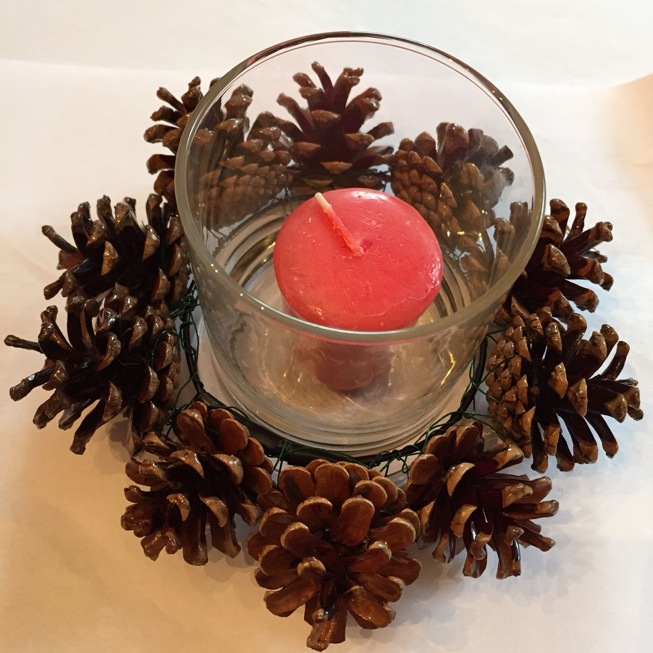 pine cone candle ring | pine cones | pinterest | candle rings
