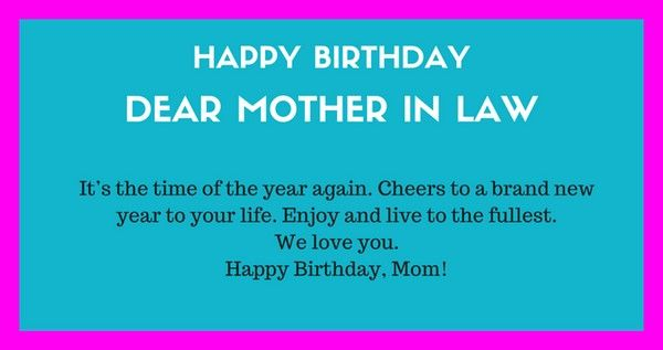 47 Happy Birthday Mother In Law Quotes Project Frames Happy