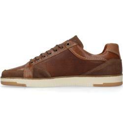 Cognacfarbene Leder-Sneaker (40,41,42,43,44,45,46,47)