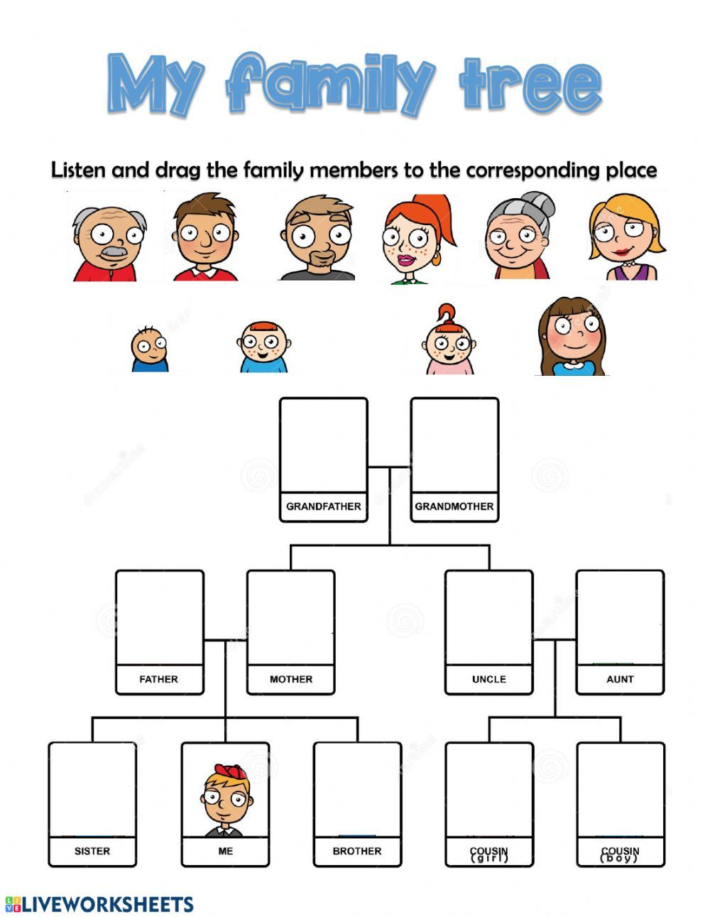 The family interactive and downloadable worksheet. You can
