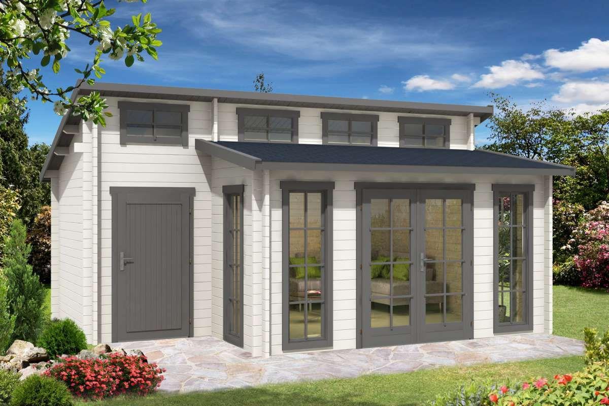 Gartenhaus Lausitz40 ISO mit Anbau Anbau gartenhaus