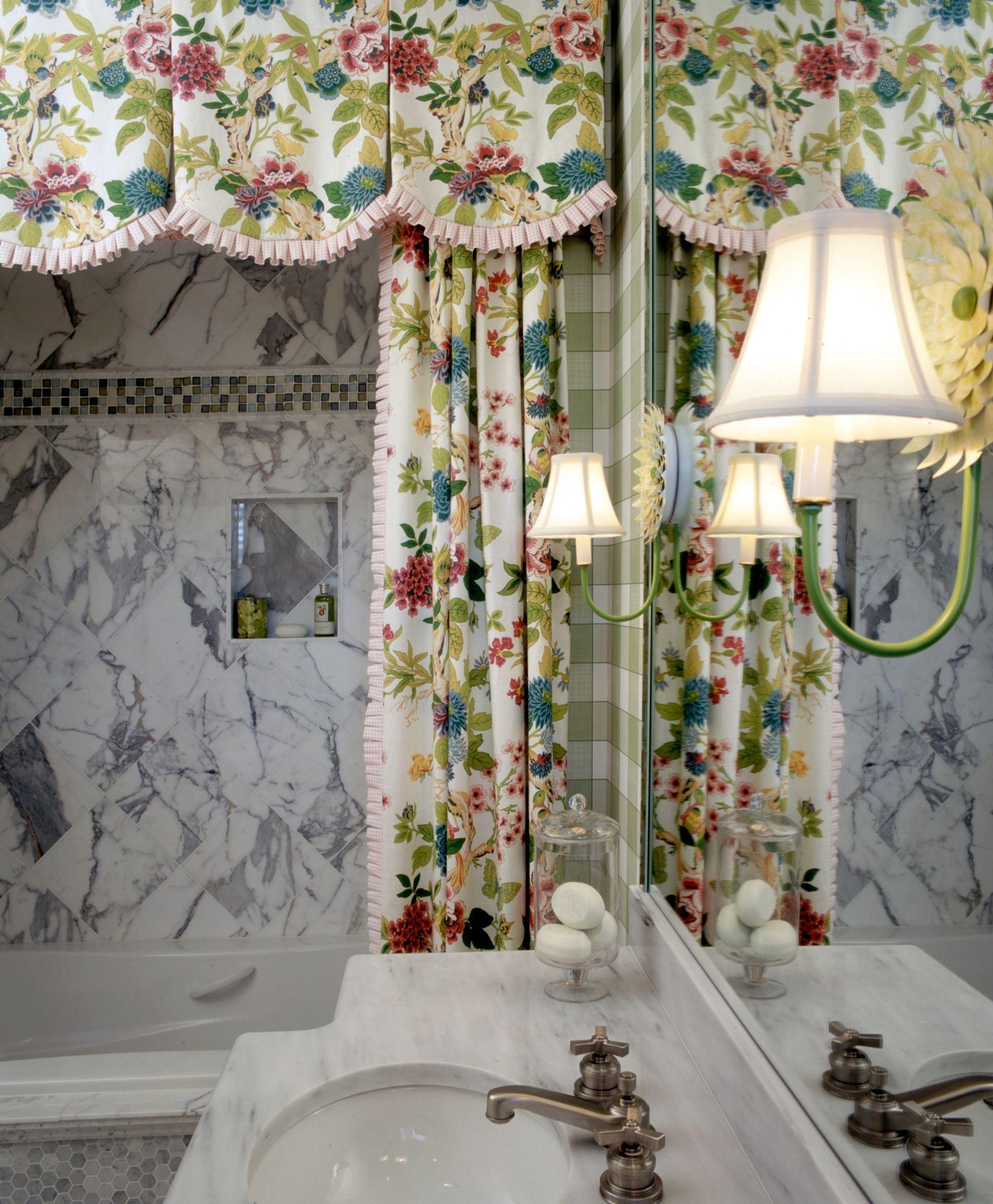 Elegant And Family Friendly Atlanta Home: Lilly Pulitzer Bathroom By Parker Kennedy Living Atlanta