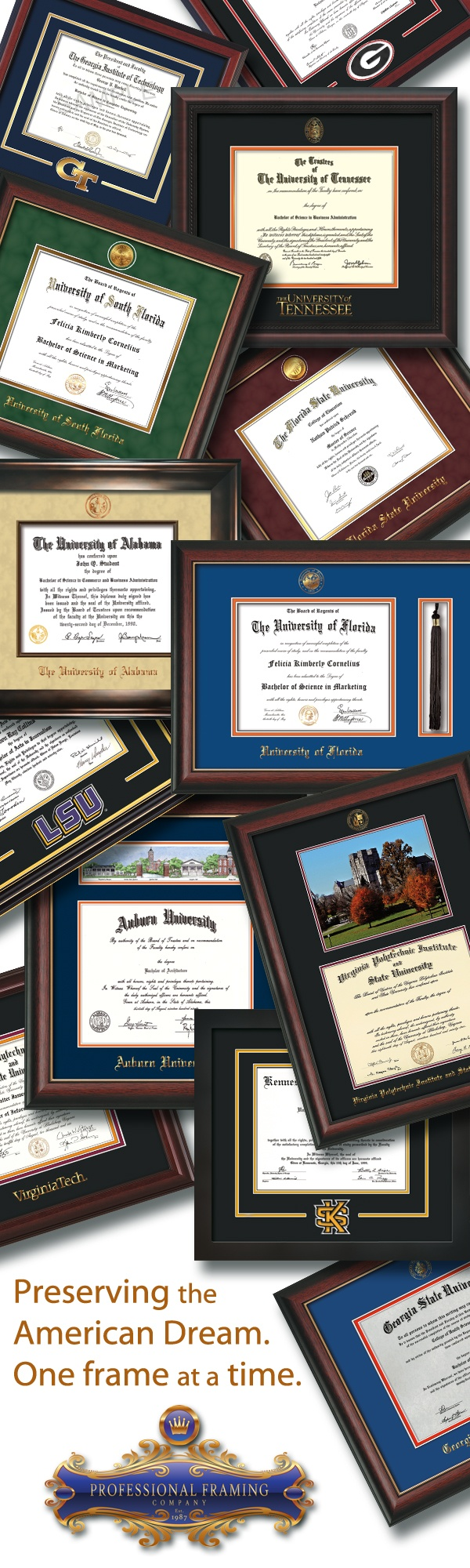 Enmarcado de Diplomas