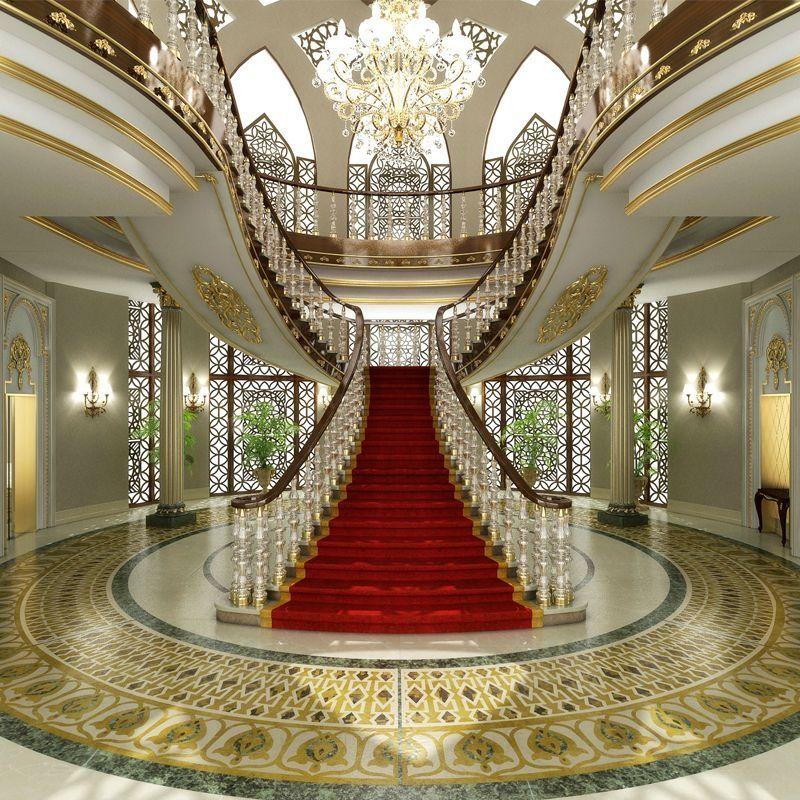Best 48 Luxury Staircase Design Ideas Classic Villa In 2019 400 x 300