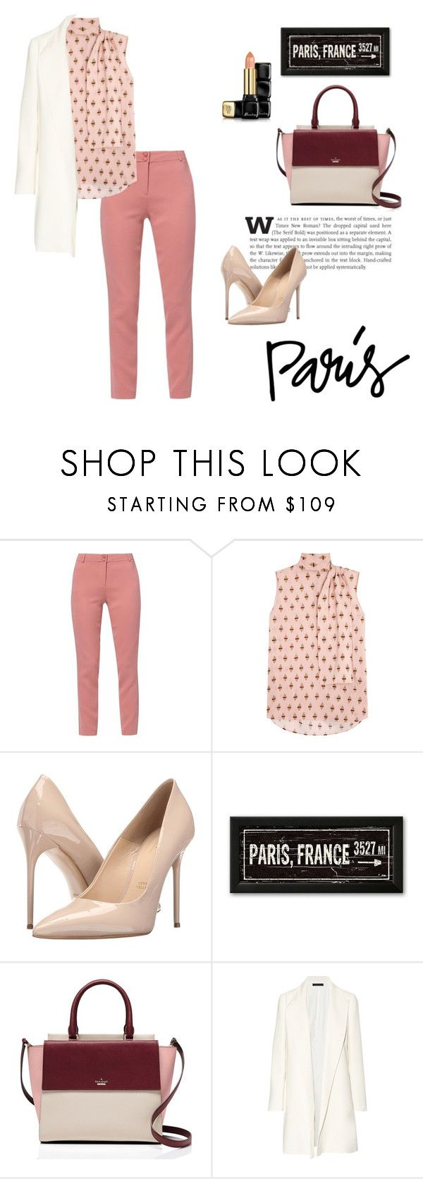 """""""P"""" by taissasilva ❤ liked on Polyvore featuring WtR London, Valentino, Massimo Matteo, Kate Spade, The Row and Guerlain"""