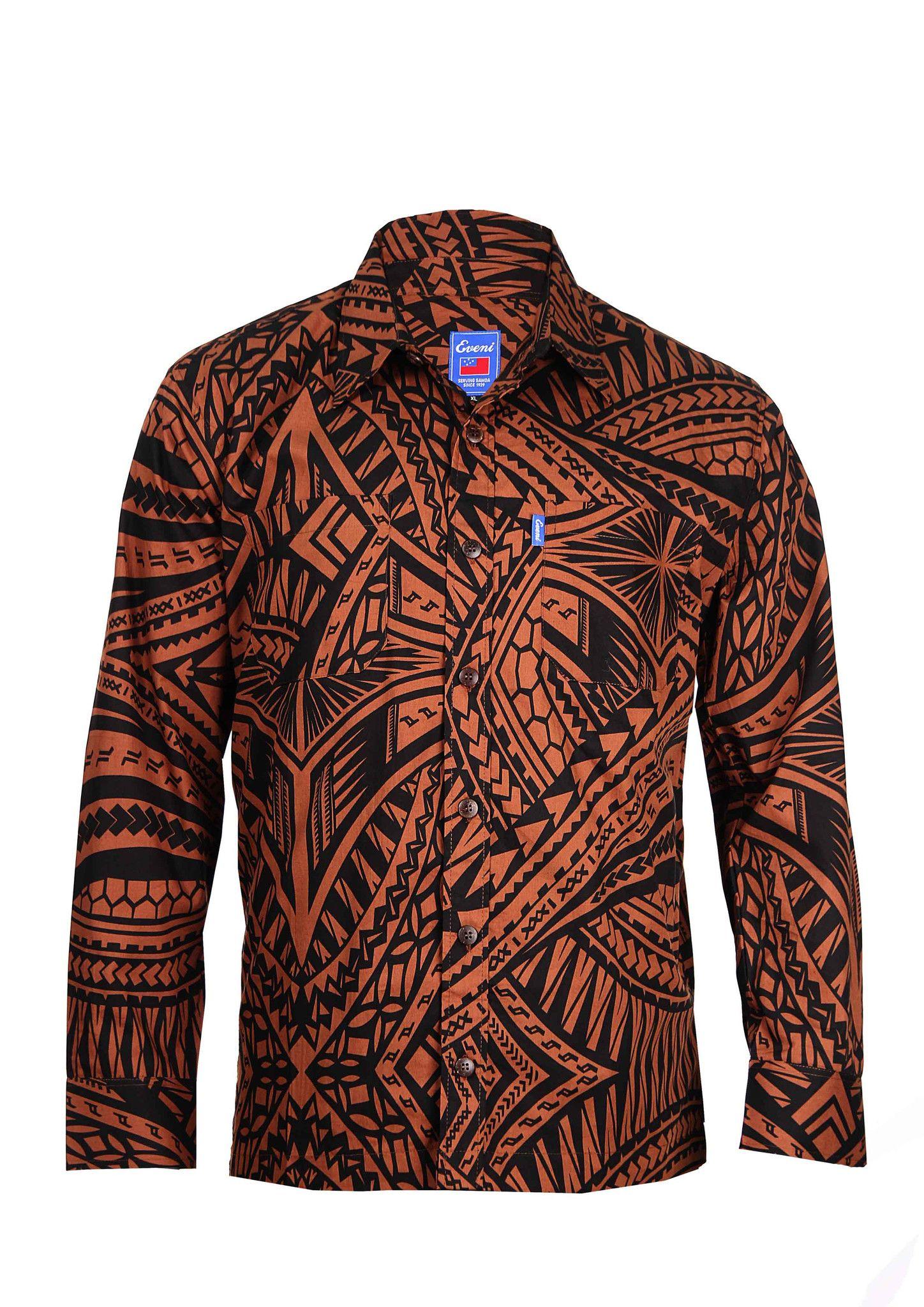 ccf6b9d5cc32e5 Mens Long Sleeve Elei Shirt | Eveni Pacific: Traditional Wear for ...
