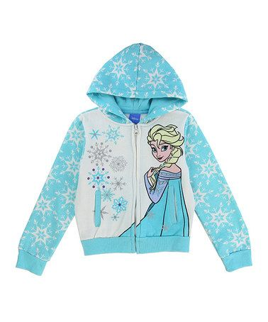 Another great find on #zulily! Frozen Turquoise Elsa Zip-Up Hoodie - Toddler #zulilyfinds