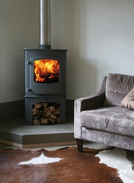 The Charnwood Cove Two Wood Burning Stove With The Log Store Https Www Directstoves Com Charnwood Wood Burning Stove Corner Corner Wood Stove Boiler Stoves