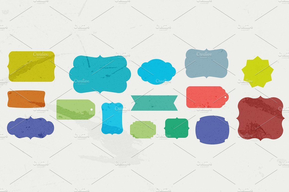 28 Vector Labels And Tag Shapes Illustration Vector Shapes