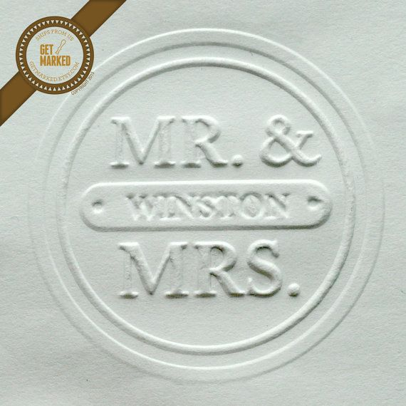 Customized Wedding Embosser Stamp Template By Get Marked