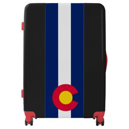 #Dynamic Colorado State Flag Graphic on a Luggage - #custom #luggage #suitcase #suitcases #bags #trunk #trunks