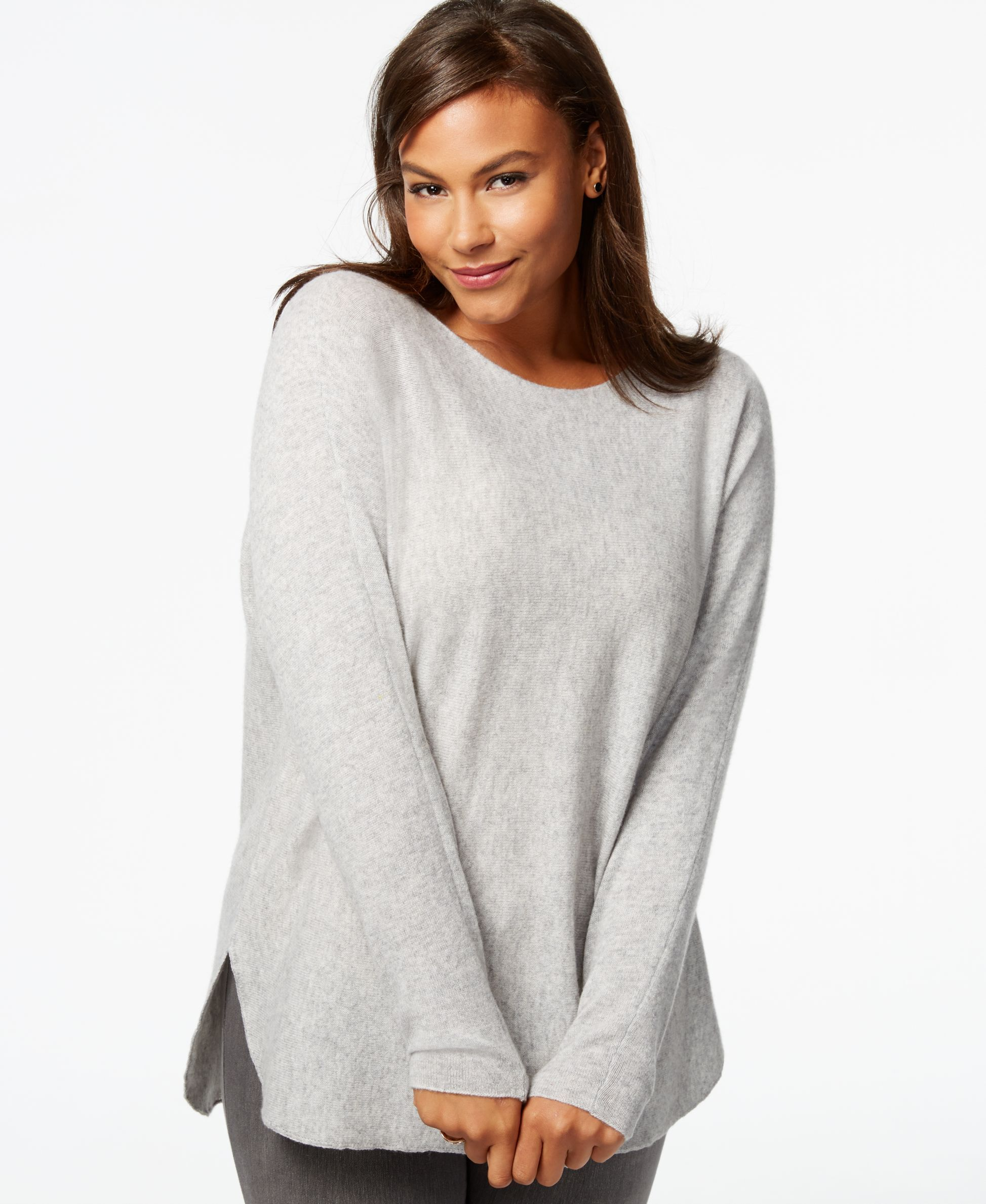 Charter Club Plus Size Cashmere High-Low Sweater | Products ...