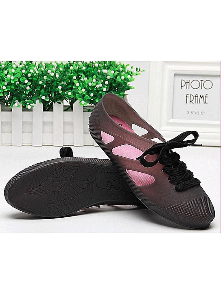 Le fabec Black Rubber Rainy Shoes For