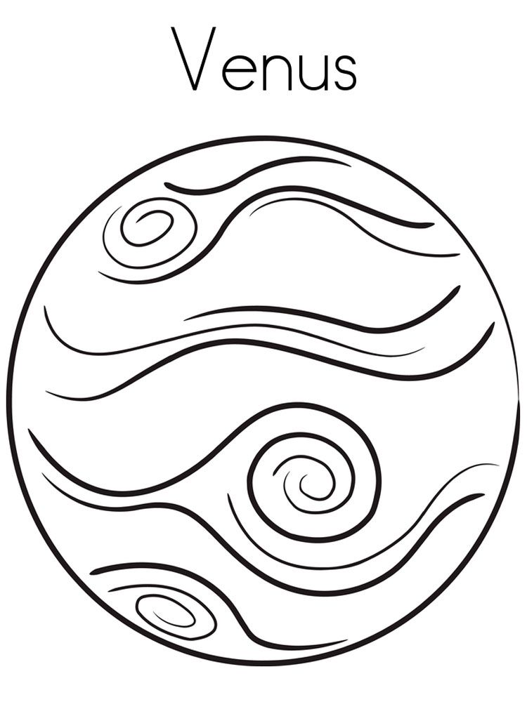 Planet coloring pages venus | Activities | Pinterest | Venus ...